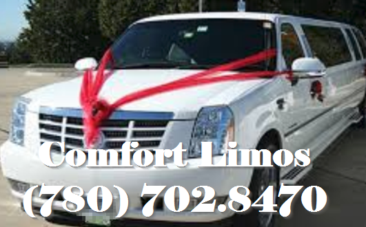 Elegeant Wedding Limo Decorated